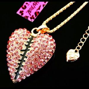 BETSEY JOHNSON~ Mended HEART Necklace/
